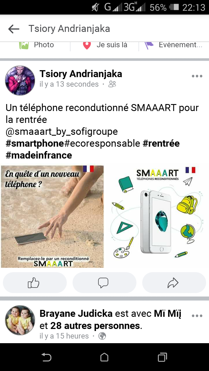 Un téléphone reconditionné SMAAART pour la rentrée