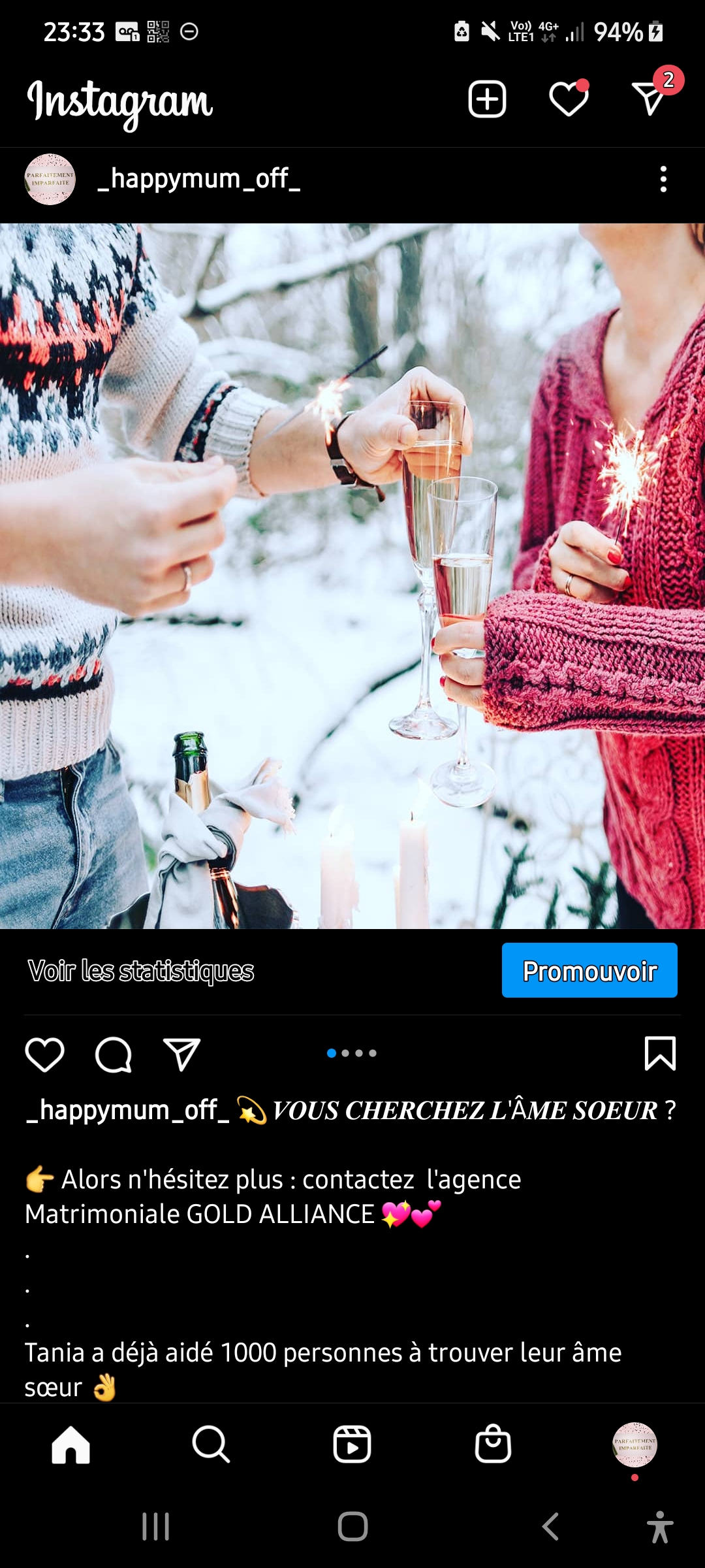 Promotion de l'agence matrimoniale GOLD ALLIANCE