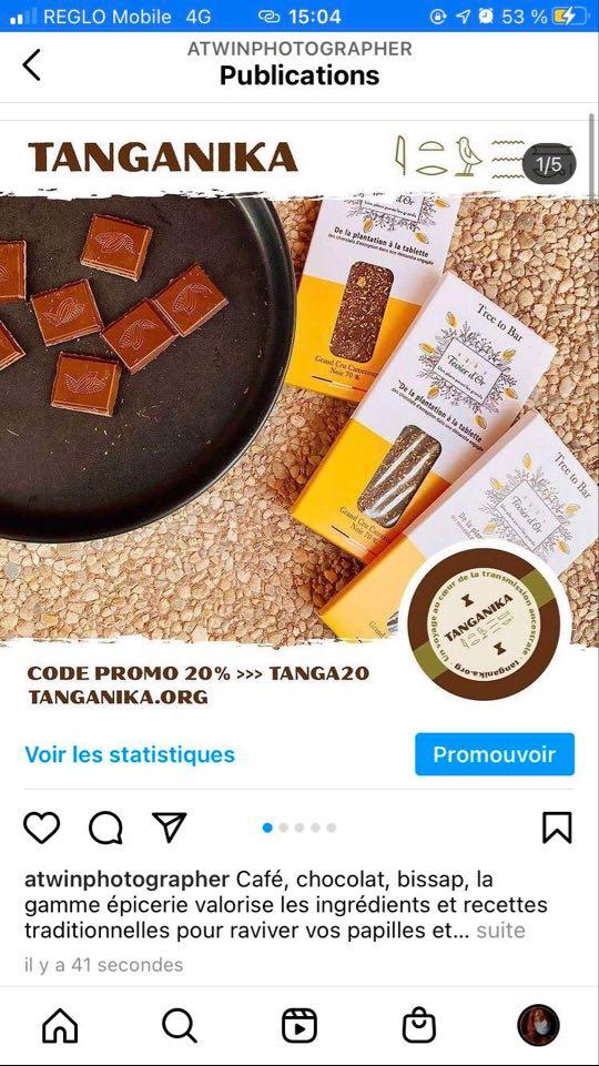 Promotion de la marque Tanganika épicerie
