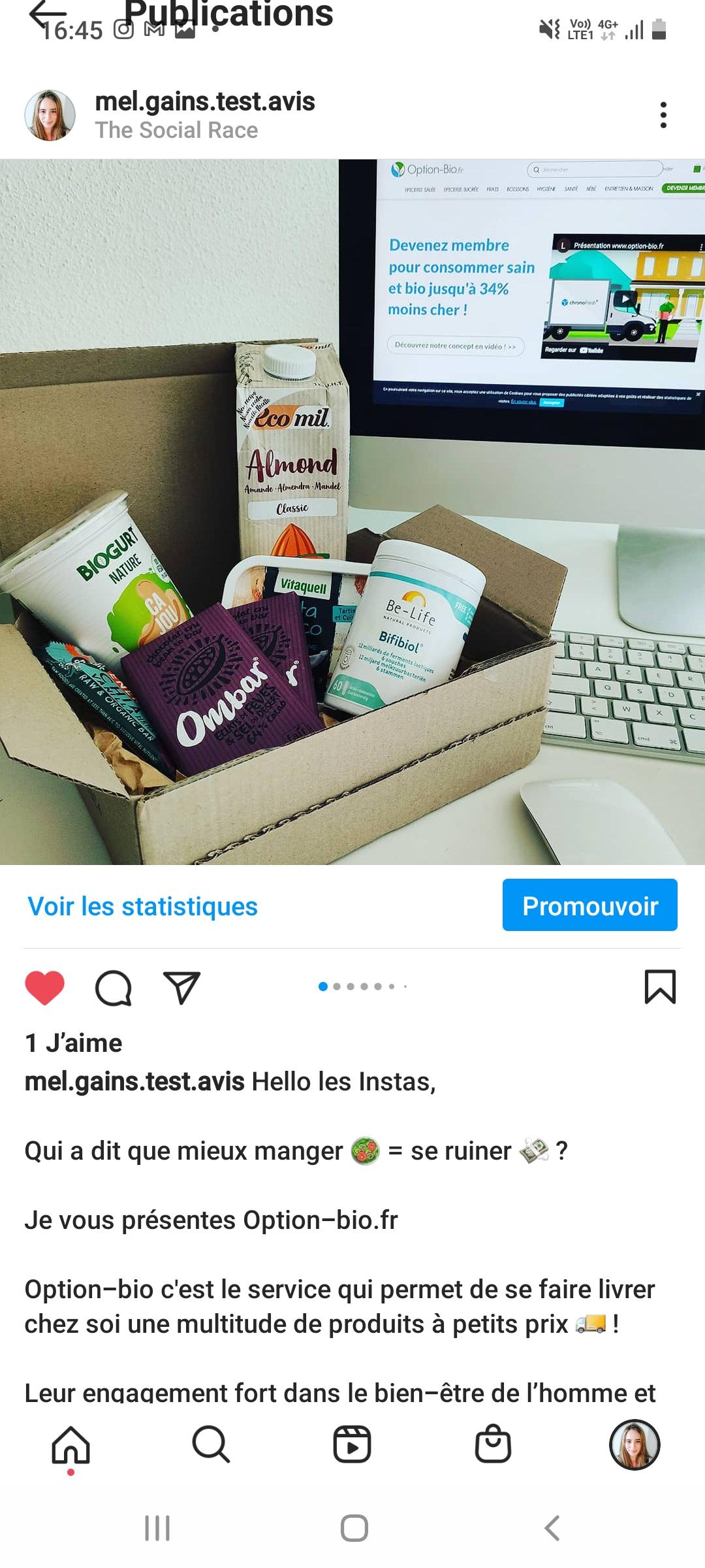 Promotion d'option-bio.fr