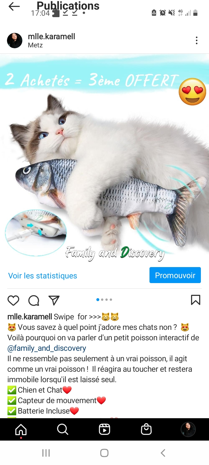 Promotion du poisson interactif Familly and Discovery