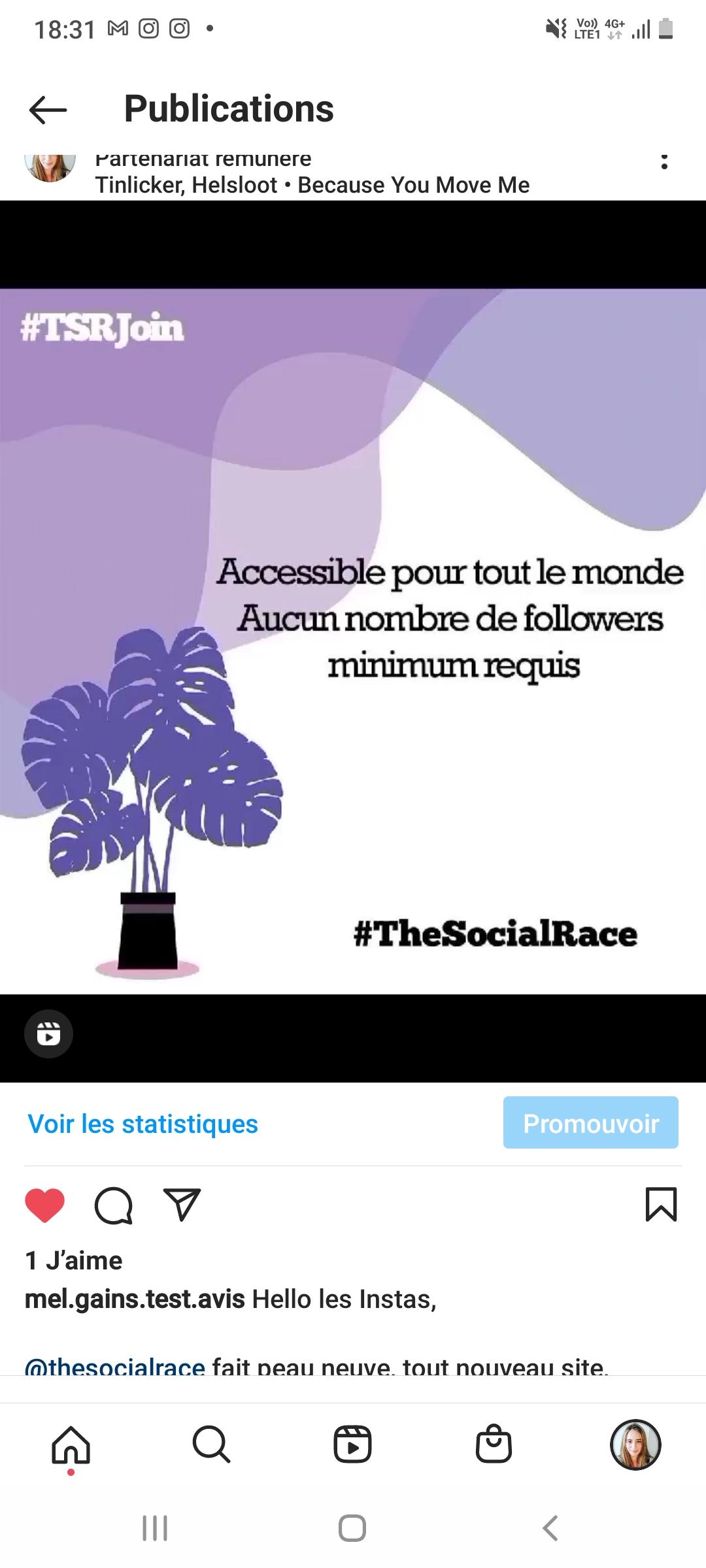 Promotion de la plateforme  #TheSocialRace